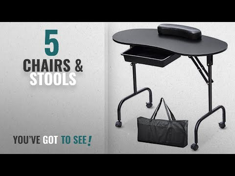 Top 10 Chairs & Stools [2018]: SWT Portable Manicure Table Nail Technician Desk Workstation With