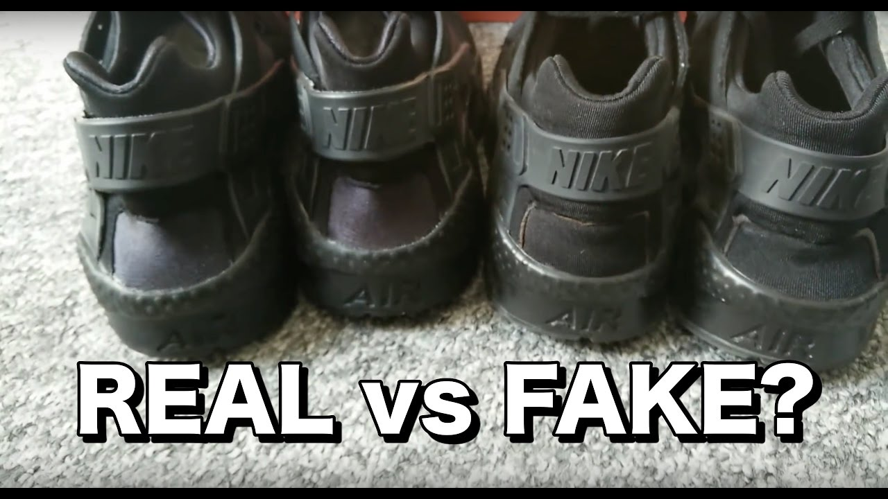 2fc6ffecb Nike Triple Black Huaraches: Replica vs Legit - YouTube