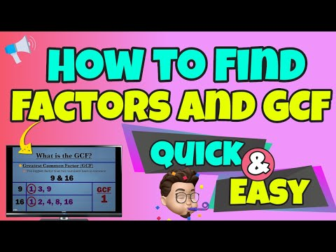 The Greatest Common Divisor made easy from YouTube · Duration:  4 minutes 18 seconds