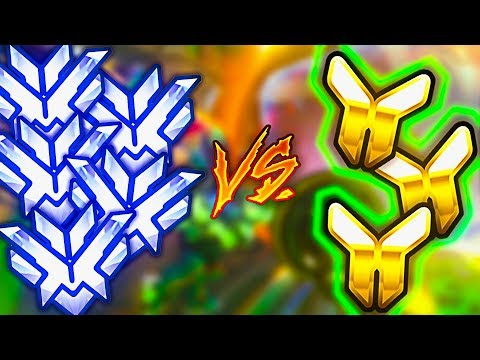 5 Top 500 Players VS 3 Gold Players WIth 5x DMG! - Who Wins? [RIDICULOUS MATCH] - Overwatch VS