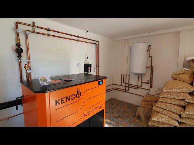 Cea mai buna centrala pe peleti - Kenda EcoEnergy 40 kw - Montaj