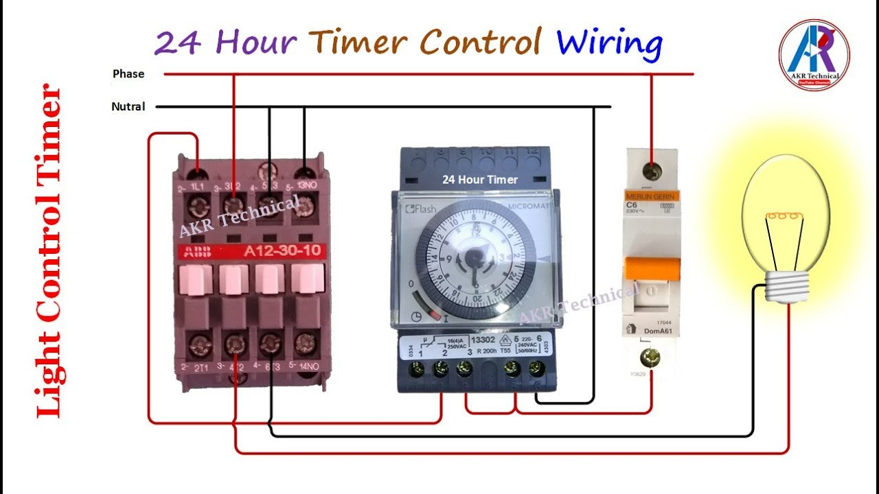 Light Timer Setting and Connection with Practical