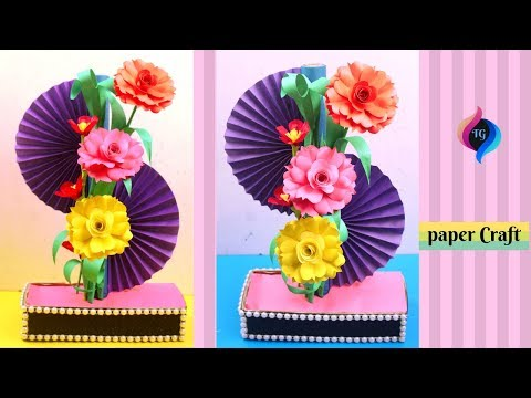 How to make home decoration with paper - DIY Simple paper craft - Paper showpiece at home