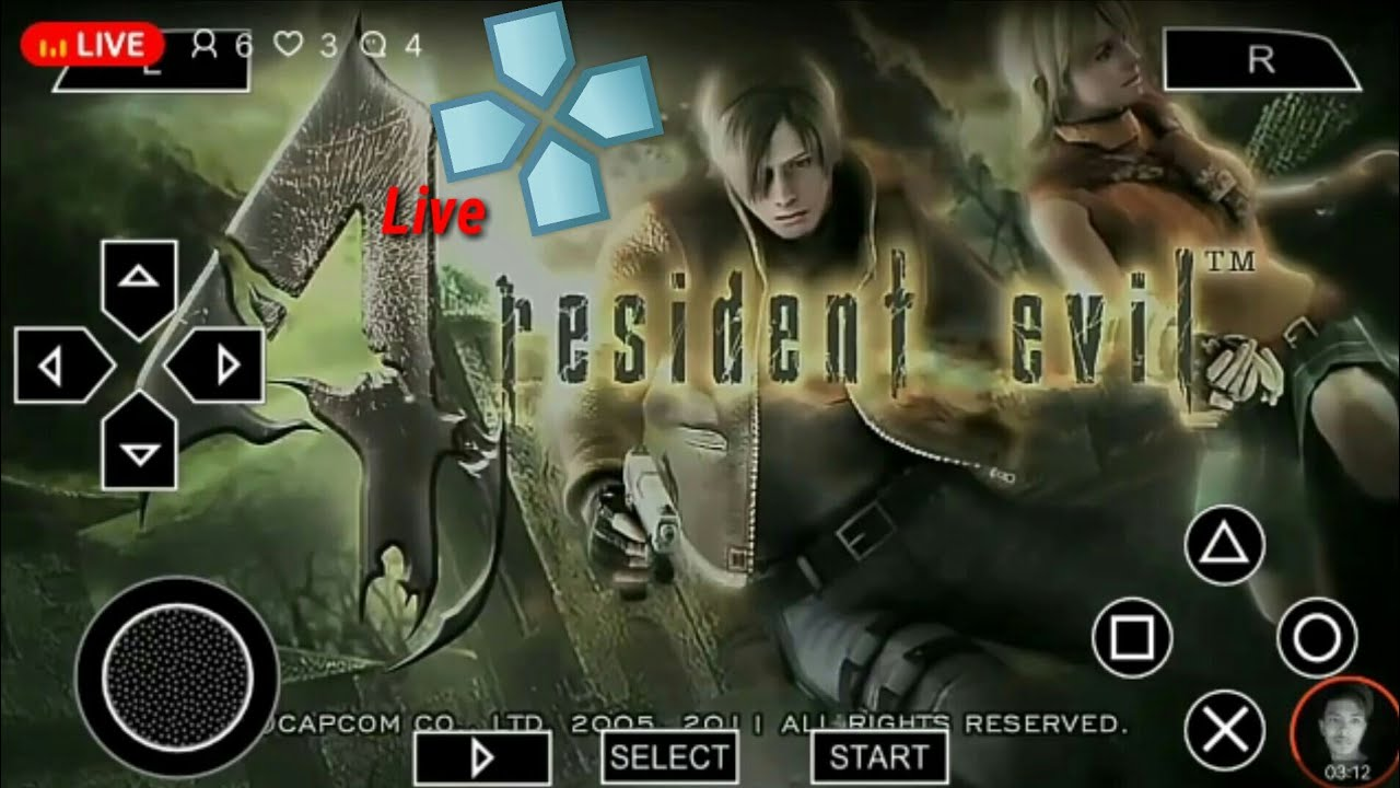 (ppsspp)Resident Evil 4 Andriod Live