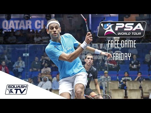 BEST SQUASH GAME EVER?! - Free Game Friday - ElShorbagy v Farag - Qatar 2017