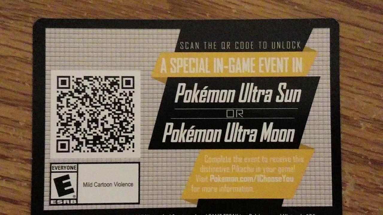 Pokemon Ultra Sun Ultra Moon Special Ash S Pikachu Qr Code Youtube