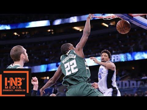 Milwaukee Bucks vs Orlando Magic Full Game Highlights / March 14 / 2017-18 NBA Season