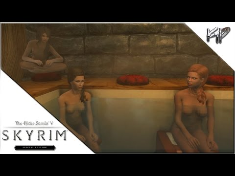 Skyrim Special Edition - Bathing with the Ladies and the Dragon Burial Mound