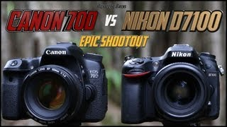 Canon 70D vs Nikon D7100 Epic Shootout Comparison | Which camera to buy?(Very Much Worth Watching in 1080p! Please subscribe & share if you would like to see epic shootouts like this! Had such a positive response from my last Epic ..., 2013-09-08T11:13:28.000Z)