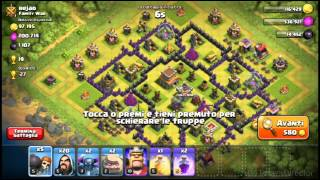 Clash of clans #2 Come attaccare con gowipe xD
