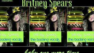 Britney Spears Baby One More Time Instrumental with Backing Vocals