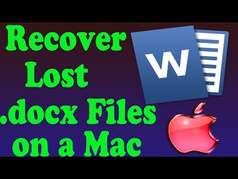 How To Find Unsaved Or Lost Word Documents On A Mac