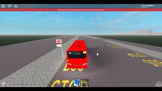Roblox Londra Hackney & Limehouse bus Simulator Esistorazione Optare Versa SLN First Day Route 323 on Diversion