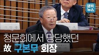 故구본무 회장, 청문회 소신 발언