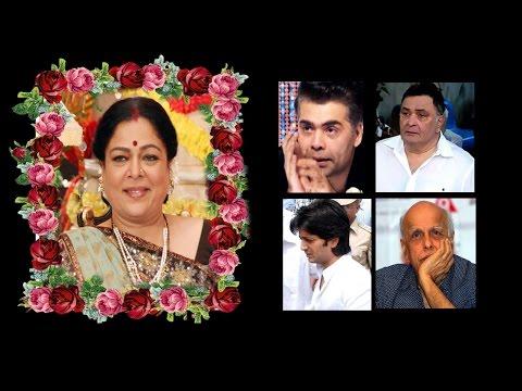 Bollywood celebs heartfelt condolences to Reema lagoo .