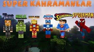 Minecraft Mod Tanıtımları - KAHRAMANLAR: (IRON MAN,CAPTAİN AMERİCA,SPİDER MAN,THOR,HULK,SUPER MAN)