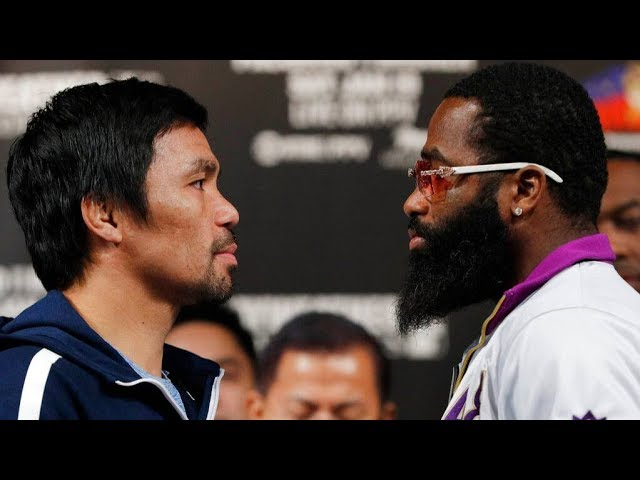 Manny Pacquiao and Adrien Broner hold final presser ahead of title bout