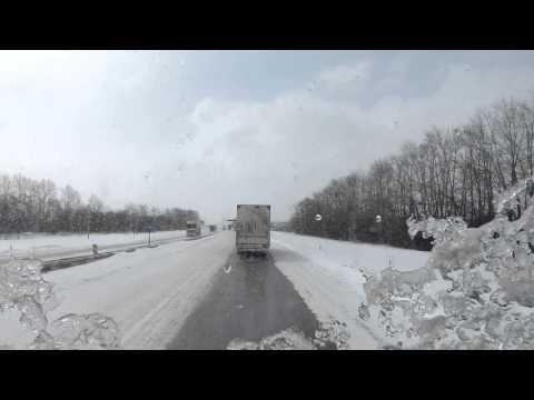 Разговоры дальнобойщиков по рации на трассе М4.