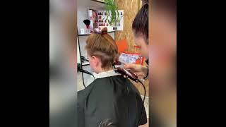 Модно и свободно Женская стрижка с выбриванием Haircut Салон красоты La Familia Бровары