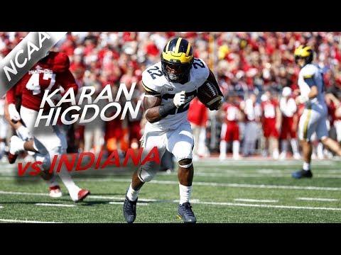 Karan Higdon Highlights vs Indiana // 25 Carries for 200 Yards, 3 TDs // 10.14.17