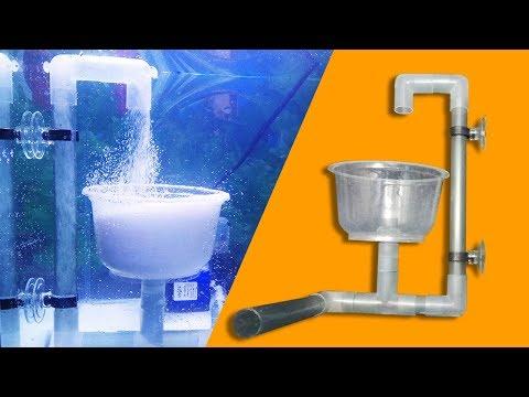 How to make underwater sandfalls like underwater waterfall