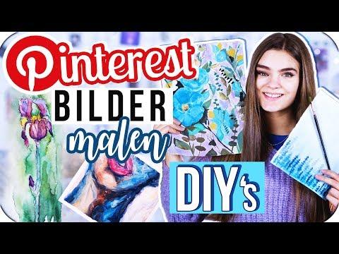 4 PINTEREST DIY's Bilder Malen - Teil 7 // I'mJette