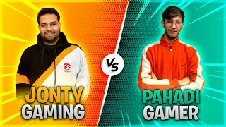 1 VS 1 WITH PAHADI GAMER - BADLA LE LIA HAAR KA - #JONTYGAMING - GARENA FREEFIRE BATTLEGROUND