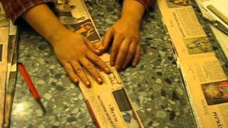 ▬► How To Twist The Tube's From Newspapers. Promo.