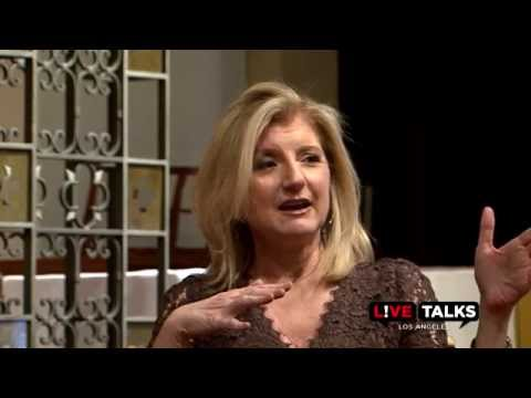 Arianna Huffington at Live Talks Los Angeles; in conversation with Michael Lynton