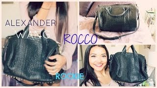 Alexander Wang Rocco Bag Review! Comparison to the Rockie || nicole elise