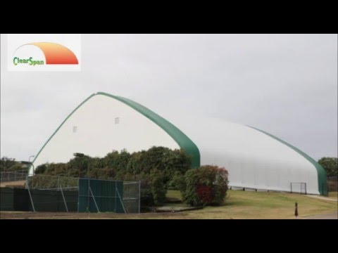 ClearSpan Fabric Structures Covered JLJ Indoor Tennis Facilty With A Tension Fabric Building