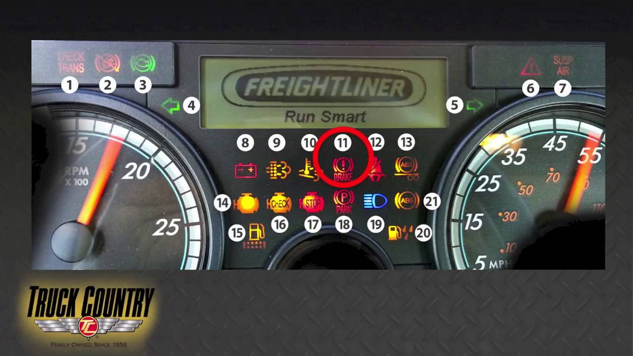 freightliner cascadia dashboard key [ 1280 x 720 Pixel ]