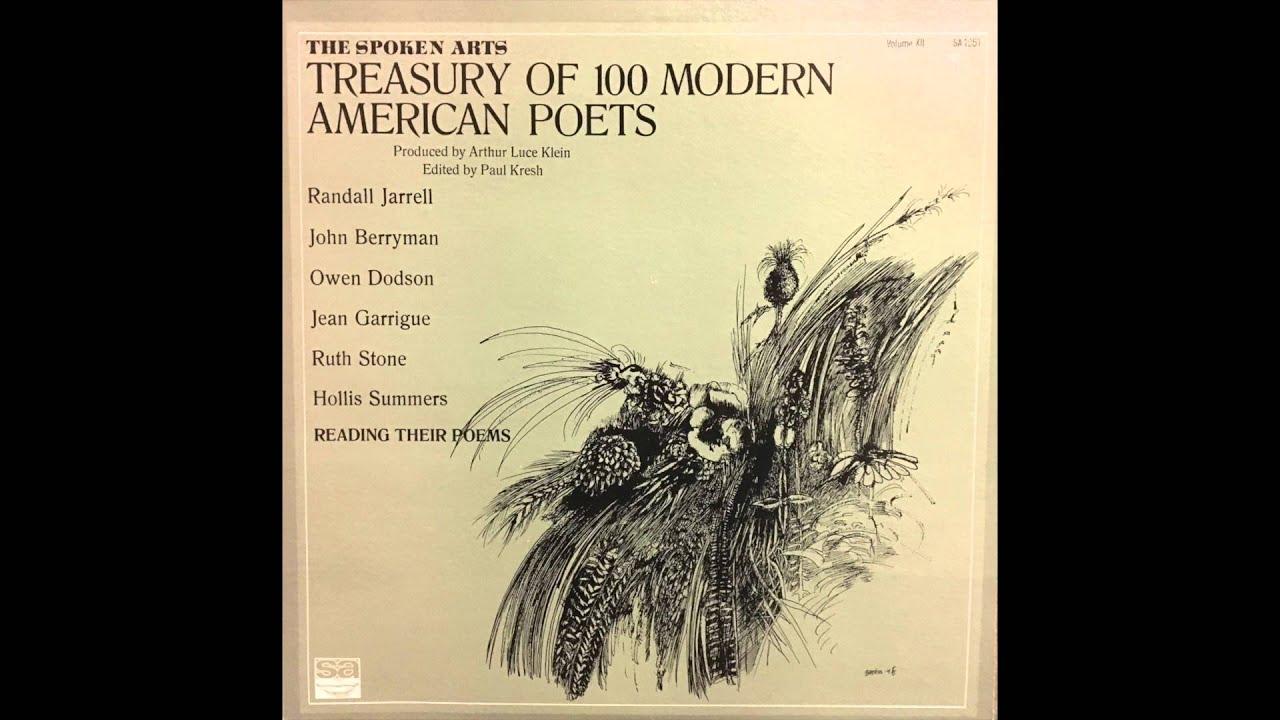 John Berryman Reading Dream Songs (Treasury of 100 Modern American ...