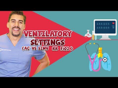 Ventilator settings ( AC, SIMV, RR, Fi02)