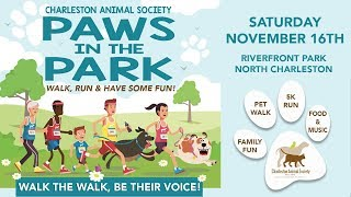 PAWS IN PARK PETWALK FOR CHARLESTON ANIMAL SOCIETY