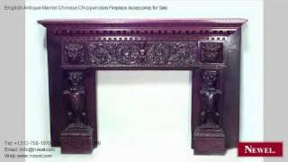 English Antique Mantel Chinese Chippendale Fireplace Accesso