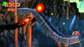 Donkey Kong Country: Tropical Freeze - 100% Walkthrough - 2-B Rodent Ruckus (Puzzle and KONG)