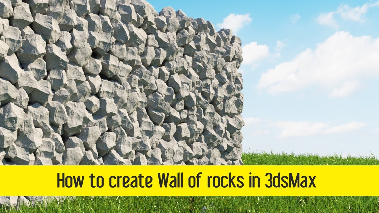 How To Create Wall Of Rocks In 3dsmax Youtube