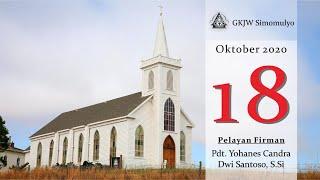 Ibadah Minggu, 18 Oktober 2020 GKJW Jemaat Simomulyo