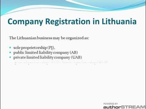 How to Open a Company in Lithuania - CompanyFormationLithuania.com BRIDGEWEST
