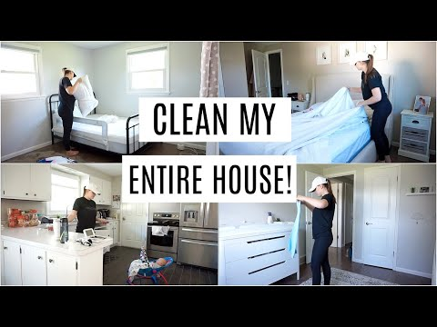 SPEED CLEAN MY WHOLE HOUSE | CLEANING MOTIVATION