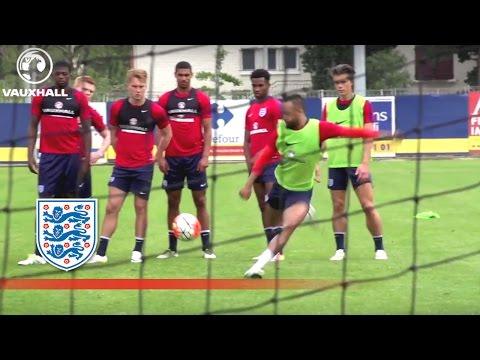 Behind the Goal - England U21 Warm Up Ahead of Guinea (2016 Toulon Tournament) | Inside Training