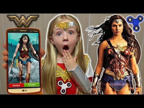 Prank Calling Wonder Woman *OMG* She Answered & FIDGET SPINNER GIVEAWAY