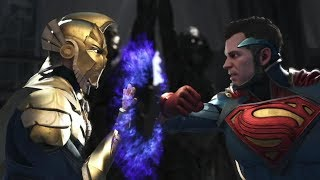 Injustice 2 : Doctor Fate Vs Superman - All Intro/Outros, Clash Dialogues, Super Moves
