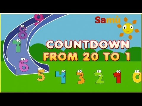 COUNTDOWN From 20 to 0 - Simple countdown for kids - Easy Kids Learning
