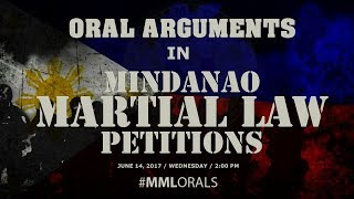 Oral Arguments in Mindanao Martial Law Petitions - Day 2, 2:00 PM