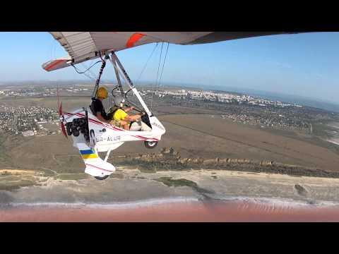 Полёт на мотодельтаплане Aeros-2 2
