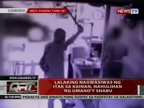 QRT: Lalaking nagwasiwas ng itak sa kainan, nahulihan ng umano'y shabu