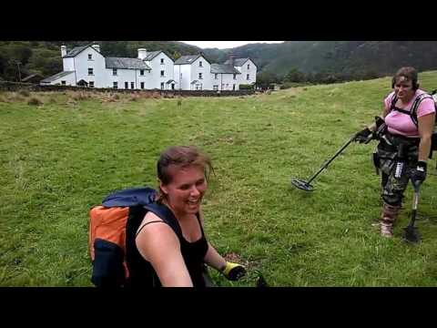 metal detecting in a nice place