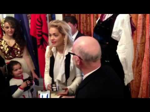Rita Ora at the Albanian Embassy In London